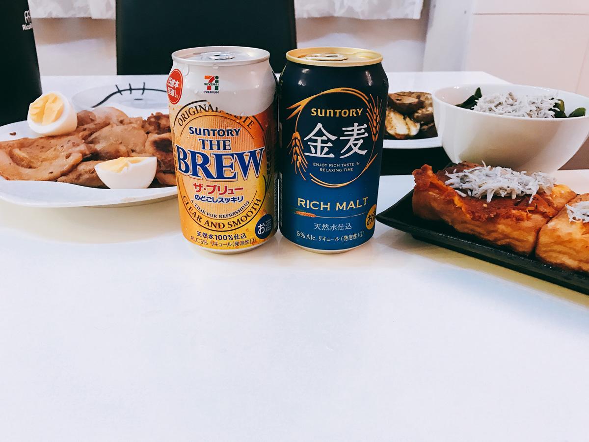 家飲み 20180821 金麦とザブリューの飲み比べ