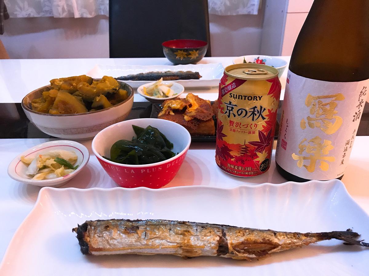 家飲み 20180829 京の秋と写楽