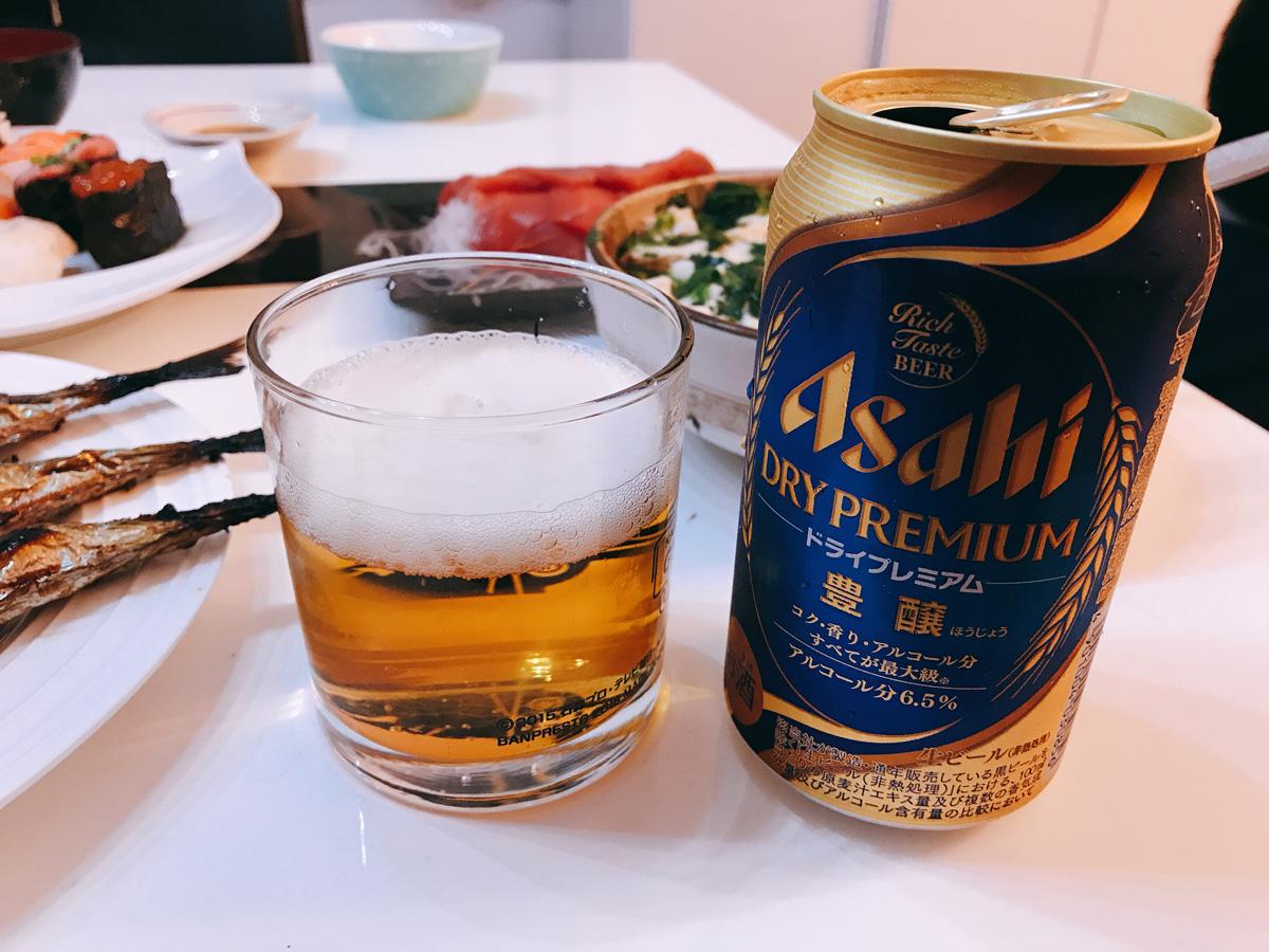 家飲み 20180925 ドライプレミアム豊穣