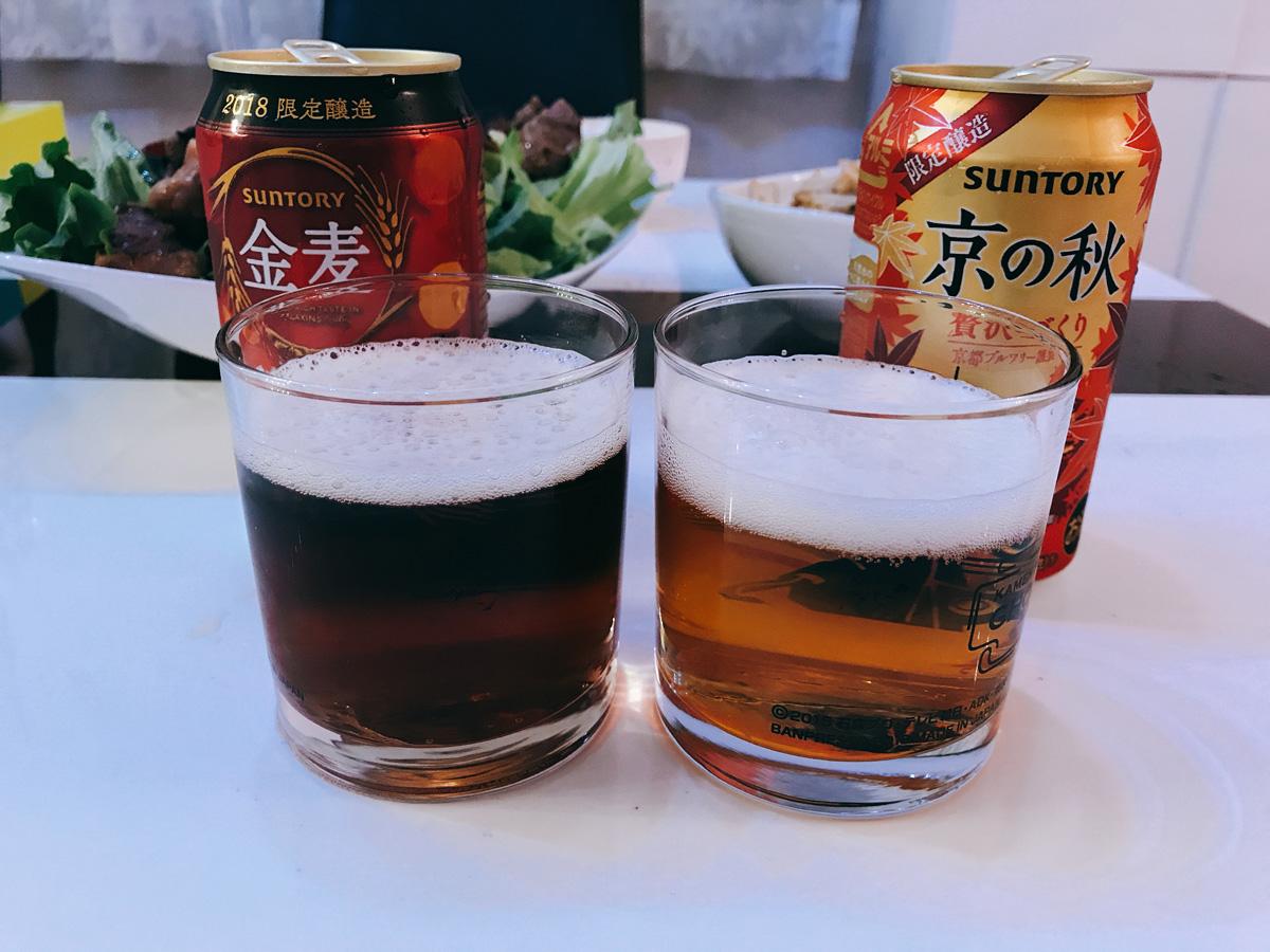家飲み 20180928 金麦こはくのくつろぎと京の秋